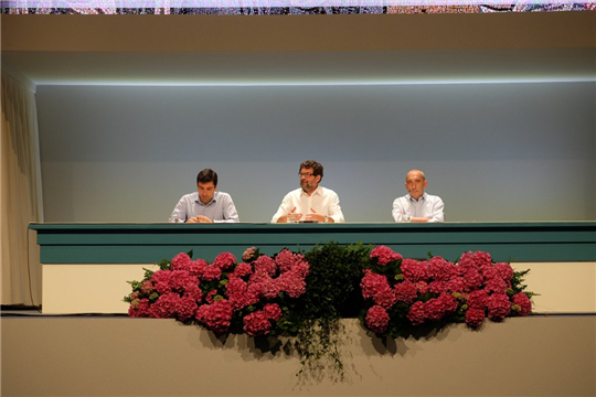 Davide Prosperi, don Eugenio Nembrini ed Enrico Craighero