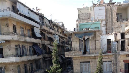 Aleppo oggi, distrutta dalla guerra.