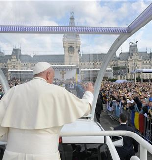 Papa Francesco accolto in Romania