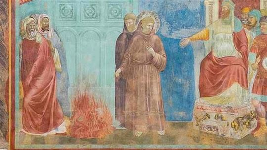 Giotto, ''Francesco incontra il Sultano'' (Assisi, Basilica di San Francesco)